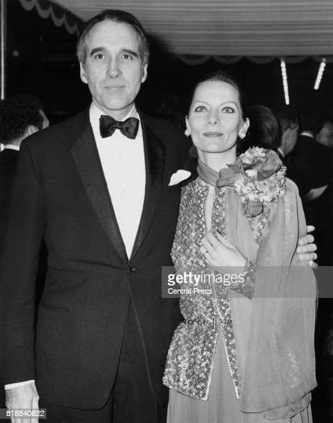 English actor Christopher Lee and his wife Birgit arrive at the Royal Film Premiere of 'The Three Musketeers' at the Odeon Leicester Square London...
