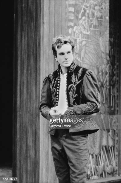 English actor Daniel DayLewis as Hamlet at the National Theatre London 1989