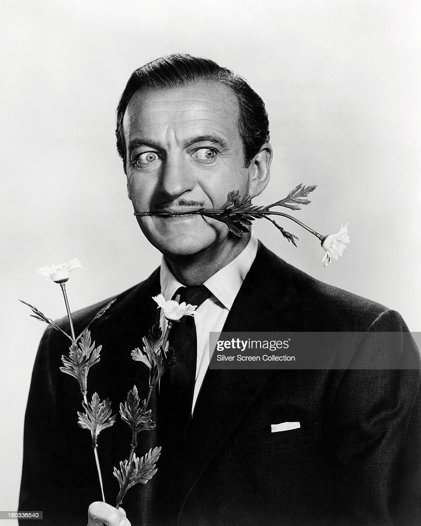 English actor <a gi-track='captionPersonalityLinkClicked' href=/galleries/search?phrase=David+Niven&family=editorial&specificpeople=123835 ng-click='$event.stopPropagation()'>David Niven</a> (1910 - 1983) as Lawrence Larry Mackay in a promotional portrait for 'Please Don't Eat The Daisies', directed by Charles Walters, 1960.