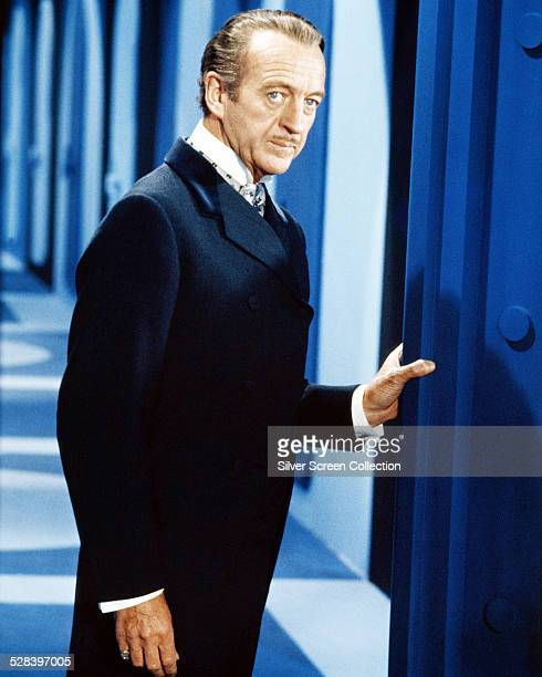 English actor David Niven as Sir James Bond in the spy comedy film 'Casino Royale' 1967