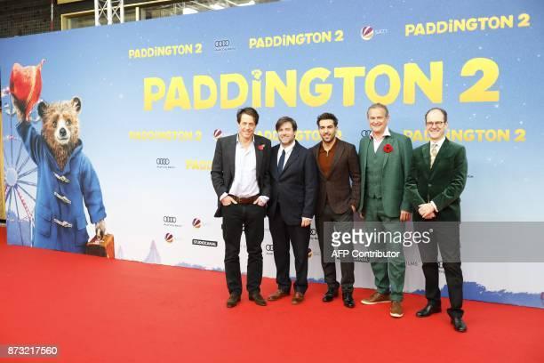 English actor Hugh Grant director Paul King Austrian dubbing actor Elyas M'Barek English actor Hugh Bonneville and British ambassador to Berlin Sir...