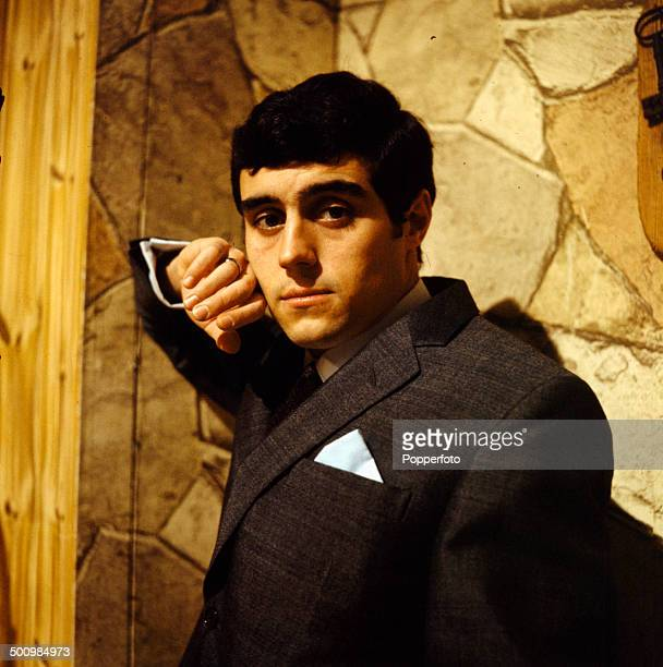 English actor Ian McShane posed wearing a suit and tie in 1966
