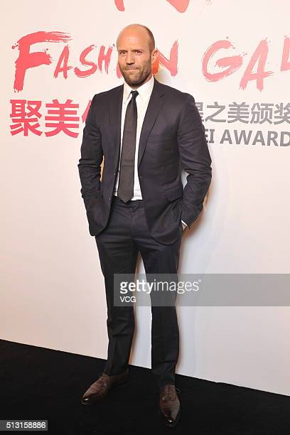 English actor Jason Statham attends the Award Ceremony of Fashion Galaxy on February 29 2016 in Beijing China