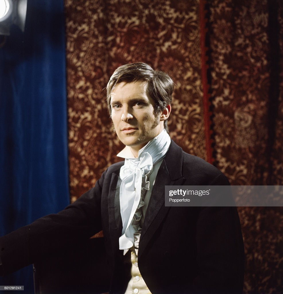 English actor Jeremy Brett (1933-1995) posed on the set of the television drama 'The Lost Stradivarius' in 1966.