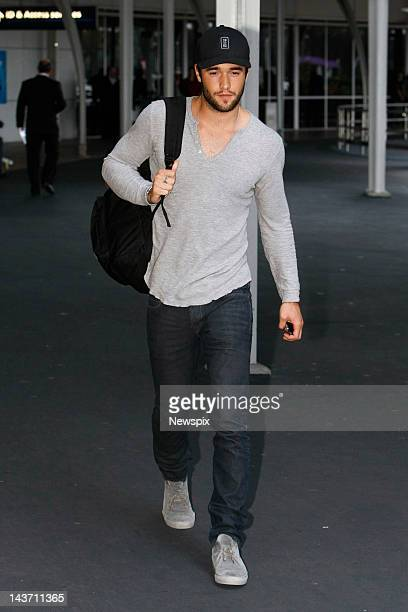 English actor Joshua Bowman arrives at Sydney International Airport on a promotional tour for television drama 'Revenge' on April 28 2012 in Sydney...