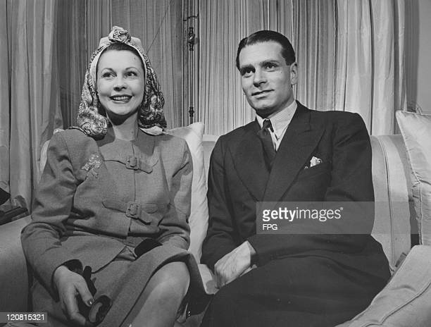 English actor Laurence Olivier and his wife Vivien Leigh New York circa 1948