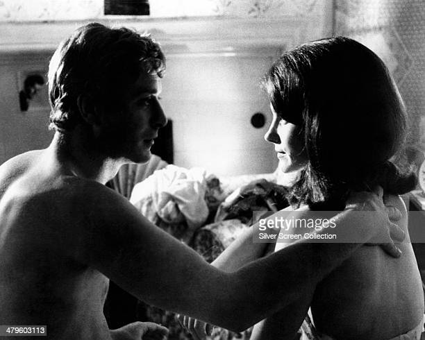 English actor Michael Caine as Alfie Elkins and Shirley Anne Field as Carla in 'Alfie' directed by Lewis Gilbert 1966