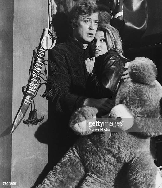English actor Michael Caine as Charlie Croker and Margaret Blye as Lorna in Paramount Pictures' 'The Italian Job' 1969
