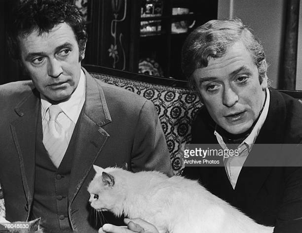 English actor Michael Caine as Charlie Croker and Tony Beckley as Camp Freddie in Paramount Pictures' 'The Italian Job' 1969