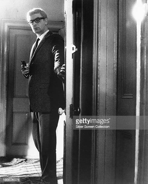 English actor Michael Caine as Harry Palmer in 'The Ipcress File' directed by Sidney J Furie 1965