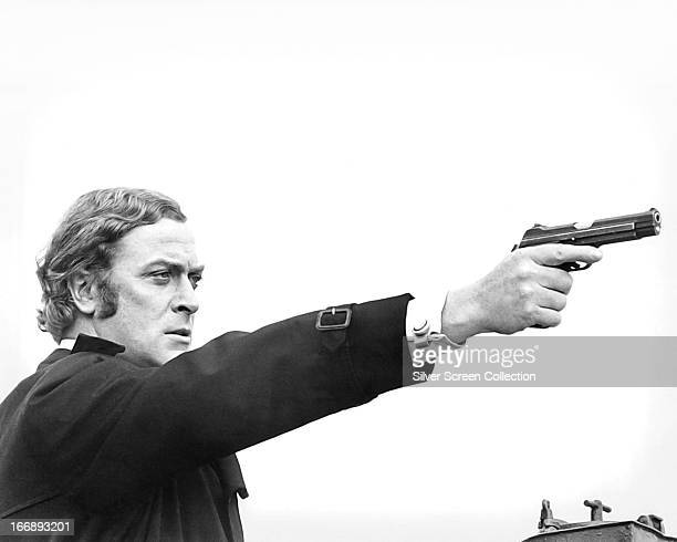 English actor Michael Caine as Jack Carter in Mike Hodges' thriller 'Get Carter' 1971