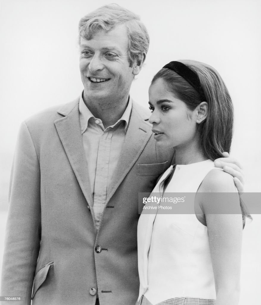 English actor Michael Caine with model <a gi-track='captionPersonalityLinkClicked' href=/galleries/search?phrase=Bianca+Jagger&family=editorial&specificpeople=216047 ng-click='$event.stopPropagation()'>Bianca Jagger</a> on the set of Paramount Pictures' 'The Italian Job', 1969.