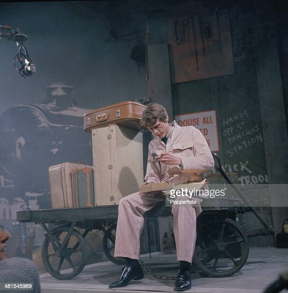 1968 English actor Michael Crawford performs in a scene from the television series 'World Of Comedy Innocent but Insane' in 1968