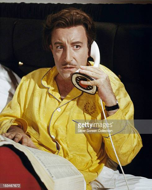 English actor Peter Sellers as concert pianist Henry Orient takes an alarming phone call in 'The World of Henry Orient' directed by George Roy Hill...