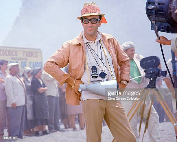 English actor Peter Sellers plays a conman playing a movie director in 'Caccia alla Volpe' 1966