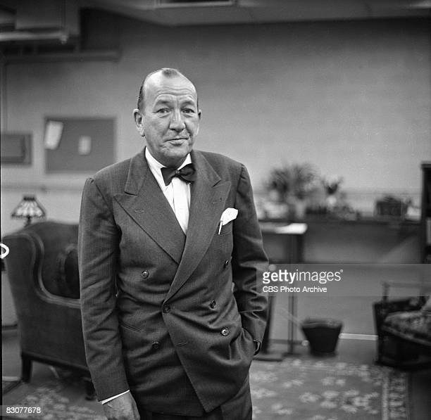 English actor playwright and composer Noel Coward rehearses for an episode of the live performance anthology series 'Ford Star Jubilee' New York...