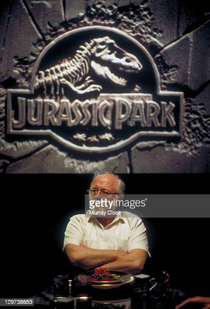 English actor Richard Attenborough as entrepreneur John Hammond in a scene from the film 'Jurassic Park' 1993