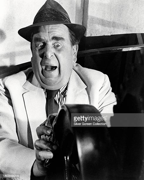 English actor Robert Morley in an unidentified film role circa 1970