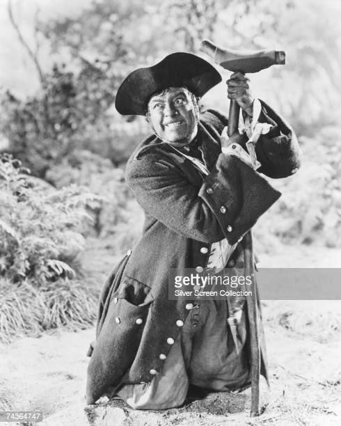 English actor Robert Newton stars as fictional pirate Long John Silver in one of the films based on Robert Louis Stevenson's classic children's novel...