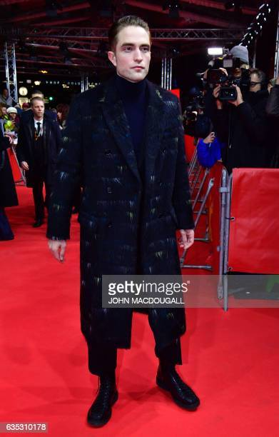 English actor Robert Pattinson poses for photographers on the red carpet for the premiere of the film 'The lost city of Z' presented in the Berlinale...
