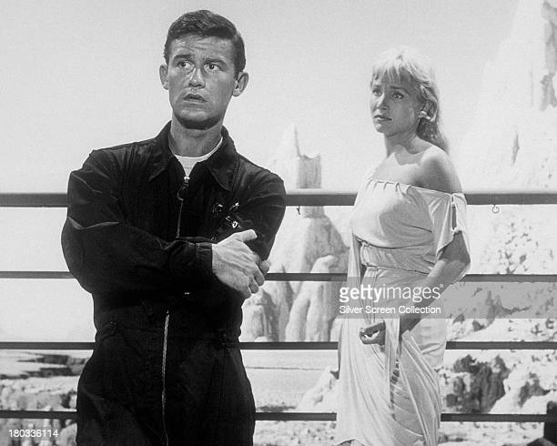 English actor Roddy McDowall as Sam Conrad and American actress Susan Oliver as Teenya in 'People Are Alike All Over' an episode in the TV series...