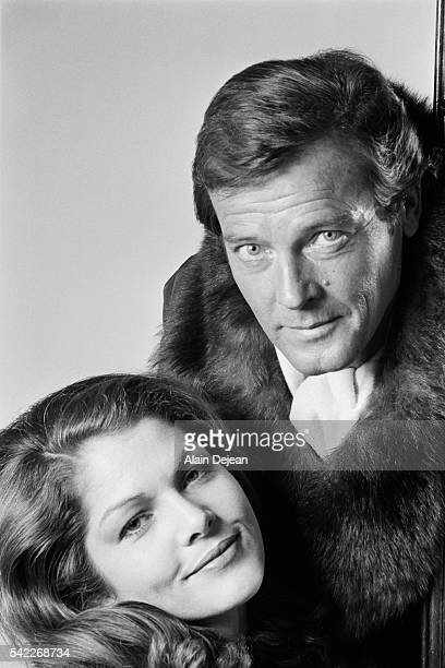 English Actor Roger Moore and French Actress Corinne Clery
