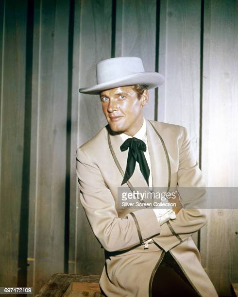 English actor Roger Moore as Beau Maverick in a publicity still for the television western series 'Maverick' circa 1960