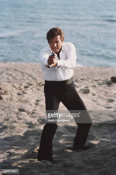 English actor Roger Moore stars as 007 in the James Bond film 'For Your Eyes Only' February 1981