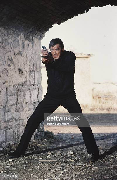 English actor Roger Moore stars as 007 in the James Bond film 'For Your Eyes Only' December 1980