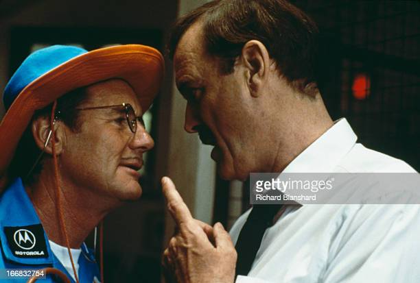 English actors and comedians Michael Palin and John Cleese star in the film 'Fierce Creatures' 1997
