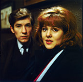 English actors Lynn Redgrave and Ian McKellen pictured together in a scene from the television drama 'Sunday Out of Season' in 1965