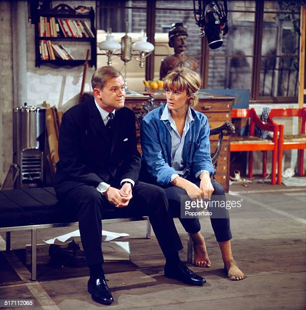 English actors Vanessa Redgrave and Nigel Stock pictured together in a scene from the television drama 'Sally' in 1964