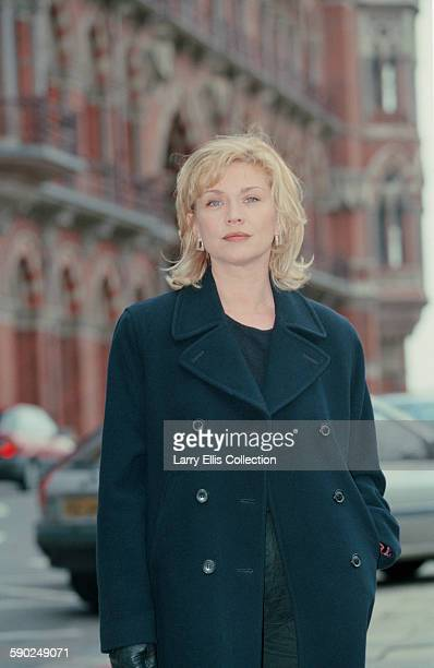 English actress Amanda Redman on location at St Pancras in London 12th February 1996