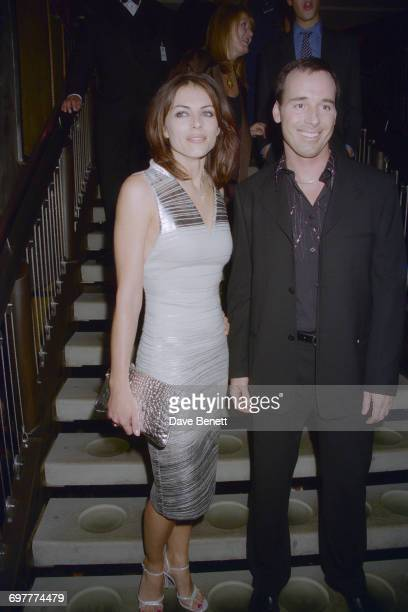English actress and model Elizabeth Hurley with filmmaker David Furnish at the Elle Magazine Style Awards at Sound Republic in Leicester Square...