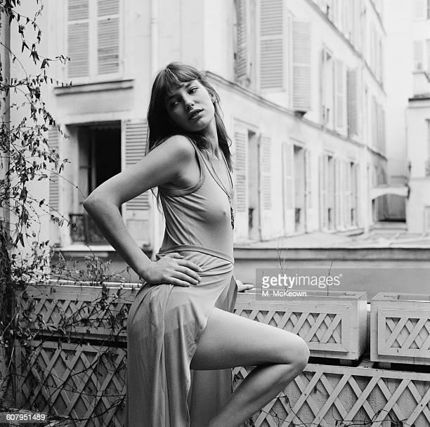 English actress and singer Jane Birkin February 1971