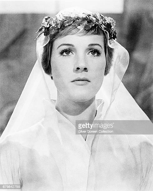 English actress and singer Julie Andrews as Maria during the wedding scene from the musical film 'The Sound of Music' 1965