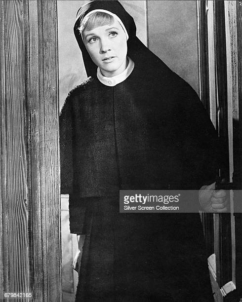 English actress and singer Julie Andrews as the young nun Maria in the musical film 'The Sound of Music' 1965