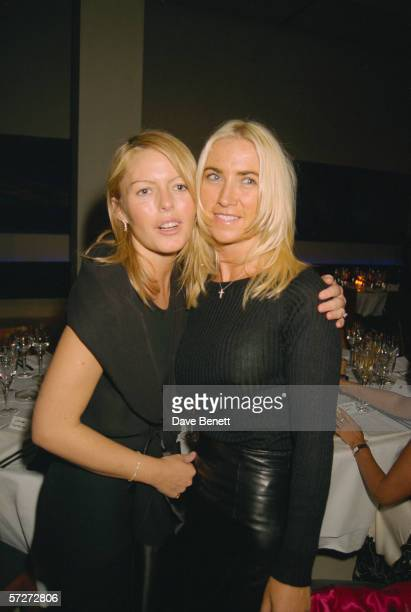 English actress and singer Patsy Kensit and Meg Matthews at a party given by fashion designer John Rocha at The Avenue restaurant London 16th...