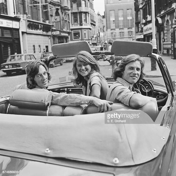 English actress Charlotte Rampling with actor and agent Bryan Southcombe and model Randall Laurence UK 27th August 1971 The three share a London flat...