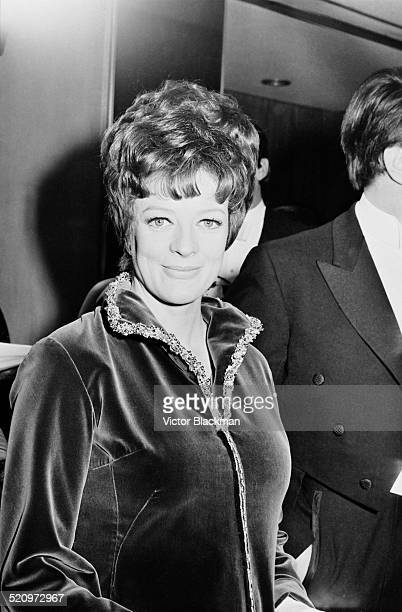 English actress Dame Maggie Smith at the Odeon Leicester Square for the premiere of 'The Prime of Miss Jean Brodie' London 1969