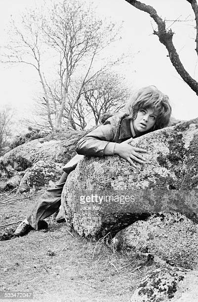 English actress Diana Dors on the film set for 'Nothing But the Night' Dartmoor Devon 5th May 1972