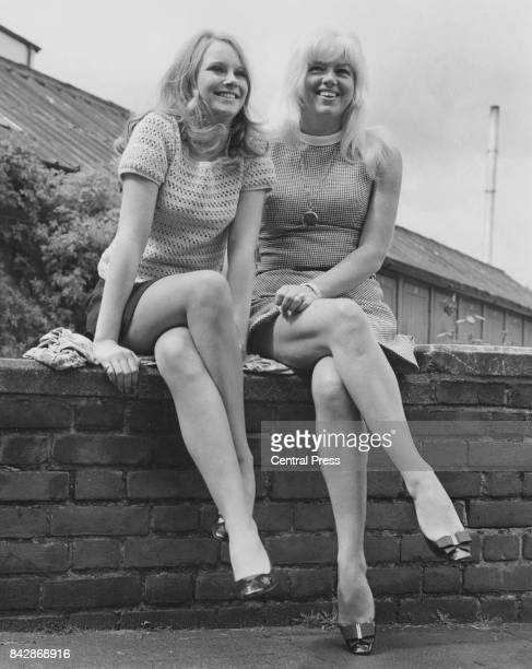 English actress Diana Dors with Linda Hayden who is playing her daughter in the film 'Baby Love' at Twickenham Studios London 29th April 1968