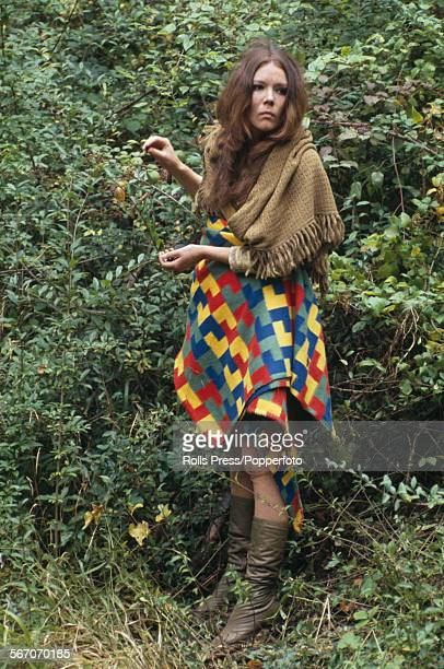 English actress Diana Rigg who plays the character of Helena in Peter Hall's film version of William Shakespeare's play 'A Midsummer Night's Dream'...