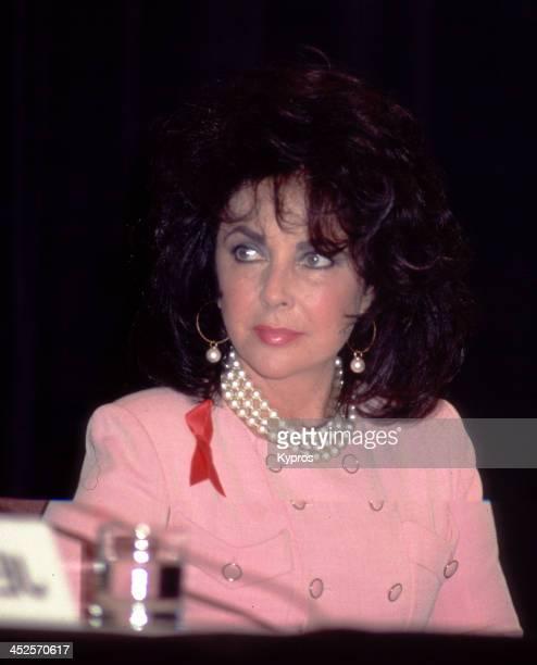 English actress Elizabeth Taylor circa 1982