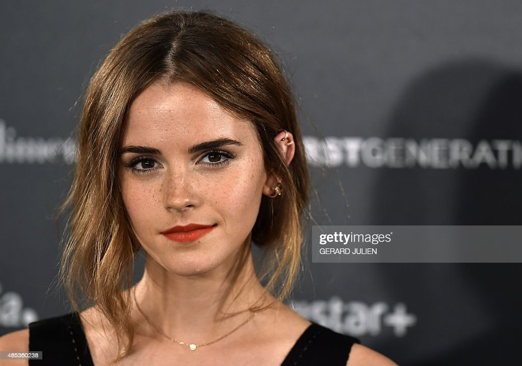 English actress Emma Watson poses during the photocall of HispanoChilean director Alejandro Amenabar's movie 'Regression' in Madrid on August 27 2015...