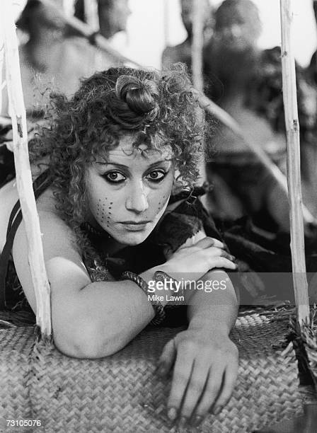 English actress Helen Mirren stars as Cassandra in the play 'Agamemnon' part one of Aeschylus' 'Oresteia' 30th August 1978