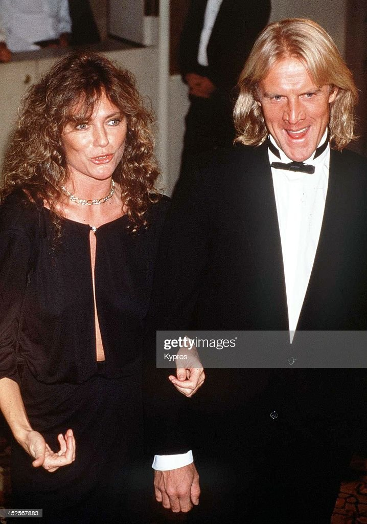 English actress <a gi-track='captionPersonalityLinkClicked' href=/galleries/search?phrase=Jacqueline+Bisset&family=editorial&specificpeople=204696 ng-click='$event.stopPropagation()'>Jacqueline Bisset</a> with her partner, Russian actor and ballet dancer <a gi-track='captionPersonalityLinkClicked' href=/galleries/search?phrase=Alexander+Godunov&family=editorial&specificpeople=233734 ng-click='$event.stopPropagation()'>Alexander Godunov</a>, circa 1988.