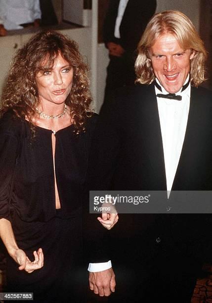 English actress Jacqueline Bisset with her partner Russian actor and ballet dancer Alexander Godunov circa 1988