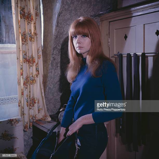 English actress Jane Asher who plays the character of Annie in the British film 'Alfie' pictured on set in London in 1965