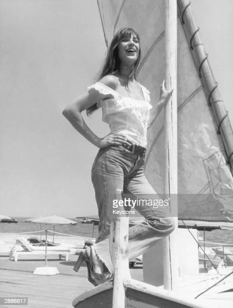 English actress Jane Birkin enjoys a sunsoaked holiday on the Cote d'Azur 16th July 1973